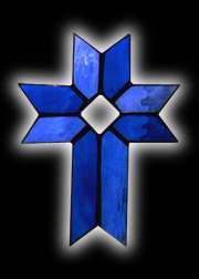 stained glass Christian Cross suncatcher