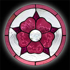 10 Inch Stained Glass Flower Window