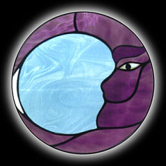 Stained Glass Moon Window