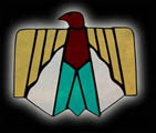 Stained Glass Thunderbird Suncatcher