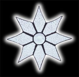 stained glass Star suncatcher