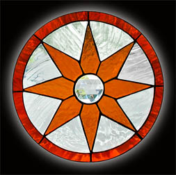 Stained Glass Star Window