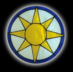 stained glass Sun Window