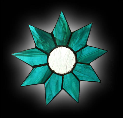 stained glass 9 Pointed Star suncatcher