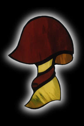 stained glass mushroom suncatcher