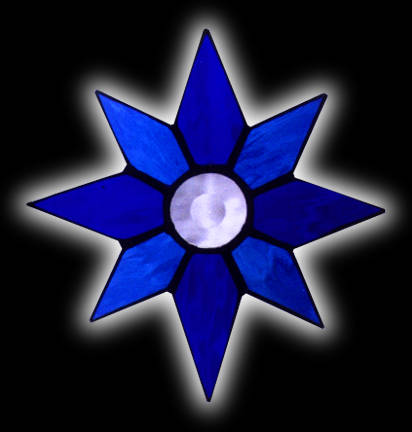 stained glass evening star suncatcher