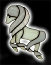 Stained Glass Pony Suncatcher