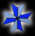 Stained Glass Maltese Cross Suncatcher